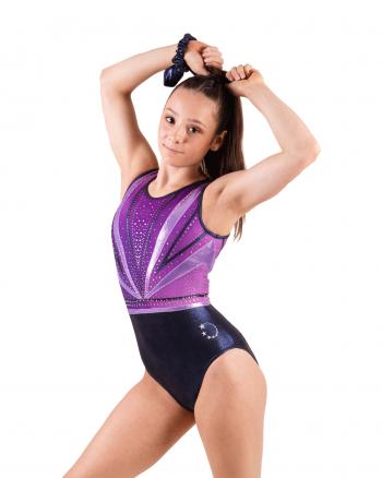 Purple + Navy gymnastics leotard