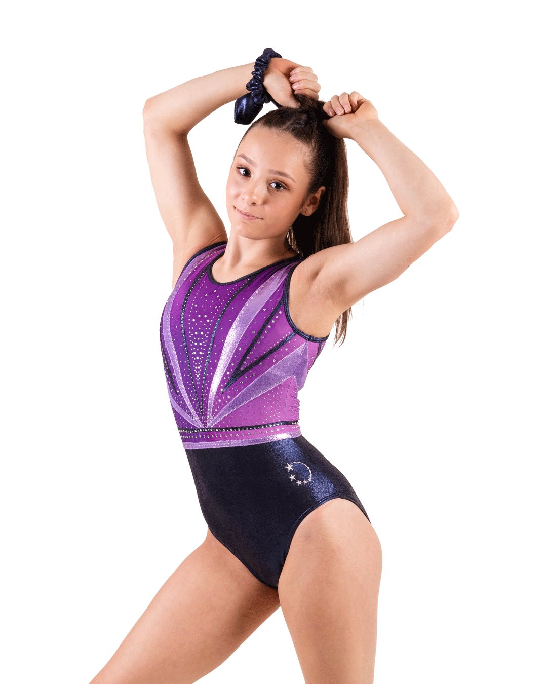 Purple + Navy gymnastics leotard