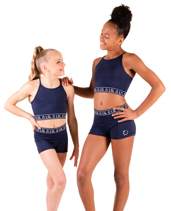 gymnastics crop top set navy