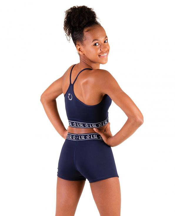 gymnastics crop top set navy