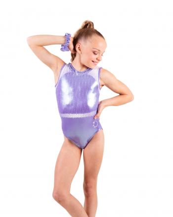 Cute Lilac gymnastics leotard with diamantes