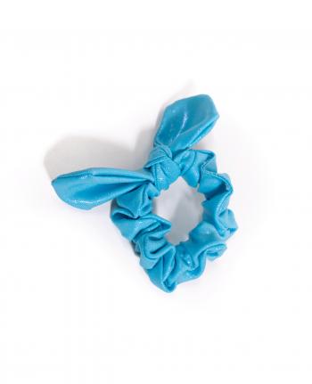 Aqua Scrunchie Bow