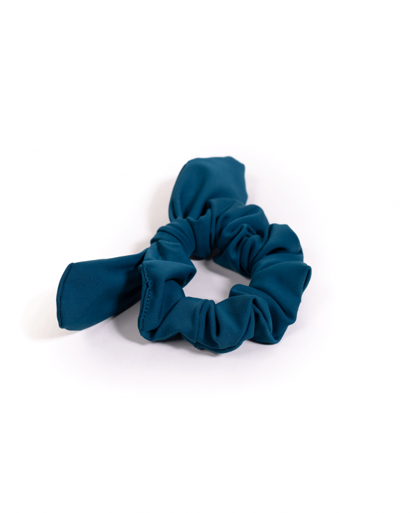 Soft Lycra Emerald Teal Scrunchie Bow