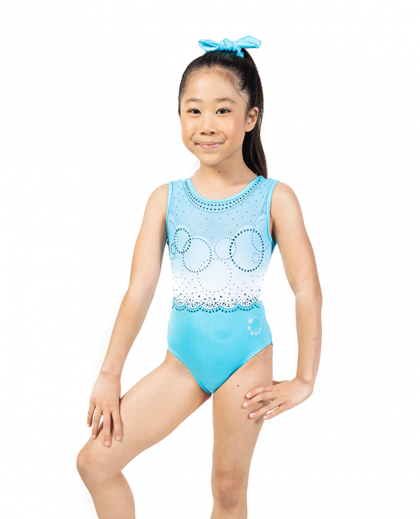 Aqua Blue Mystique Tank Leotard