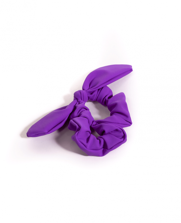 Soft Lycra Purple Scrunchie Bow