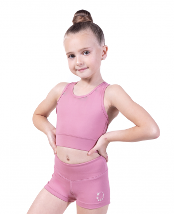 pink gym crop top
