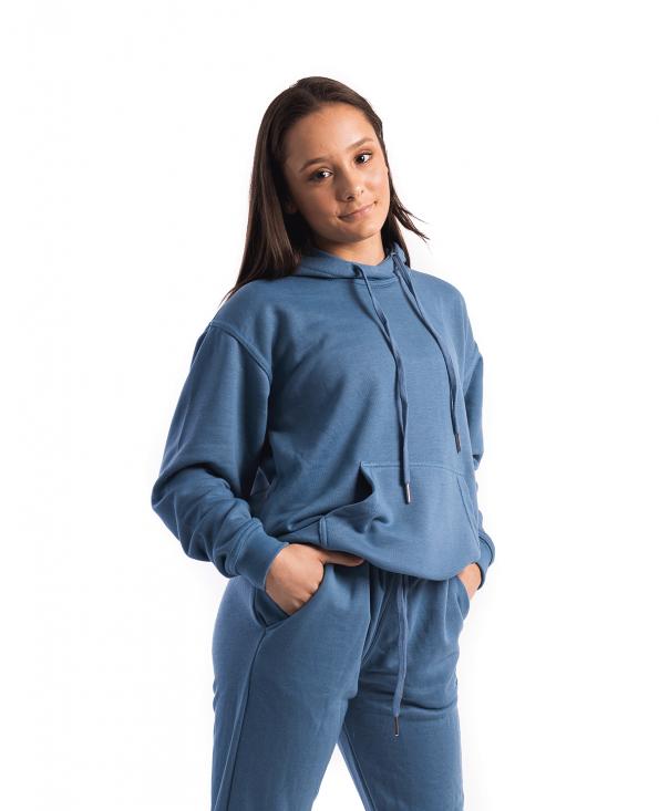 hoodie, tracksuit set, tracksuit, joggers, full length hoodie, blue