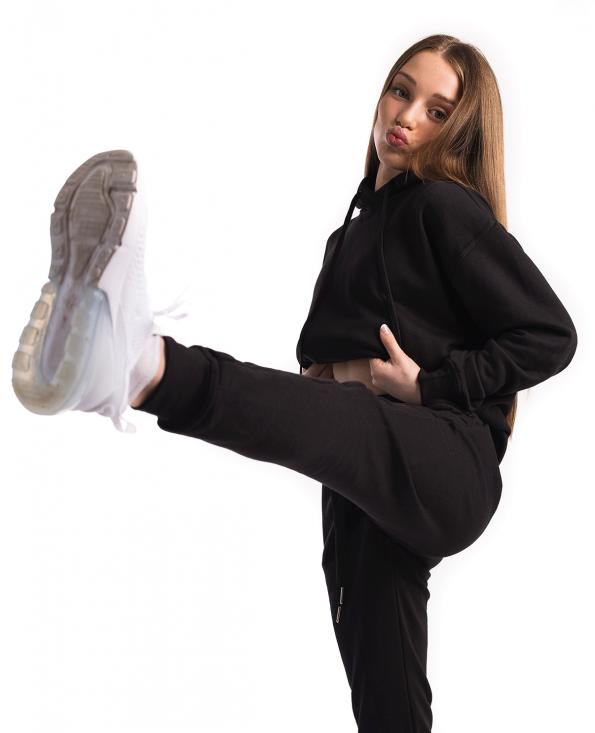 hoodie, tracksuit set, tracksuit, joggers, full length hoodie, black