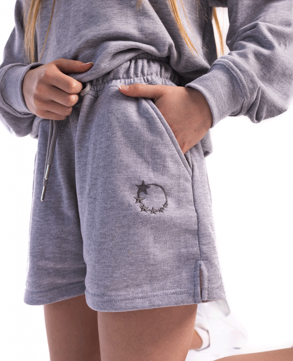 tracksuit sets, shorts, sweat shorts, grey, comfy, set