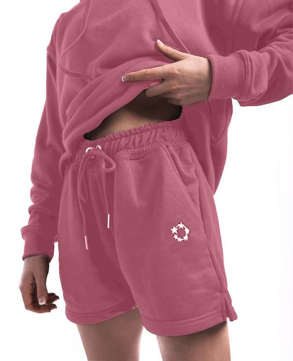 jogger shorts pink