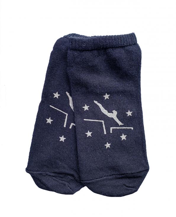 navy gymnastics socks